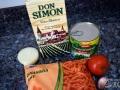 Ingredientes de la salsa