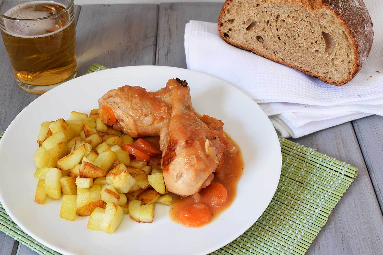 Pollo a la cerveza con canela