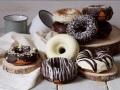 Donuts de avena y chocolate