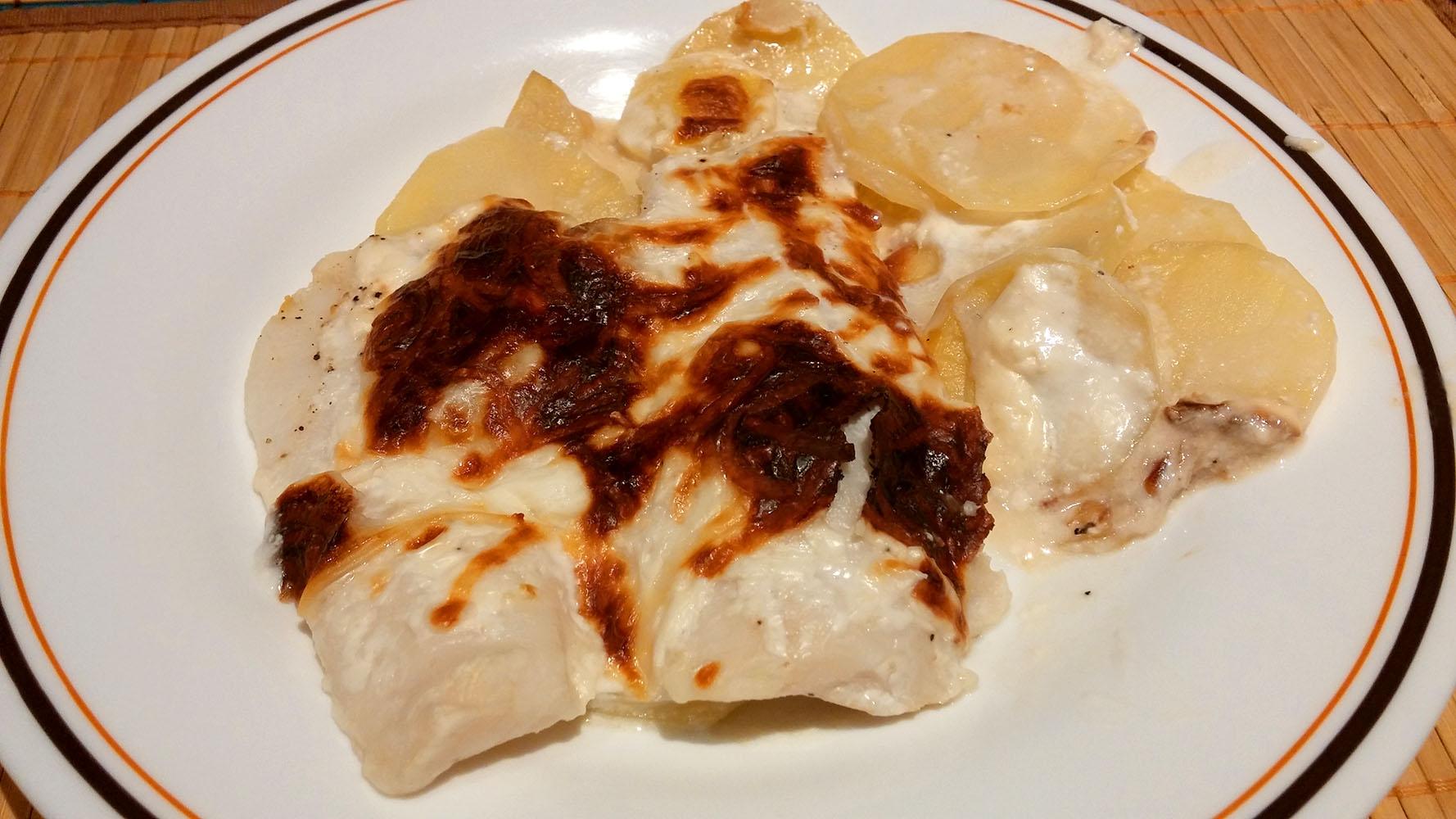 Merluza al horno con patatas y nata no me comes nada - Merluza rellena de marisco al horno ...