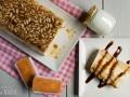 Pastel de yogur y piñones