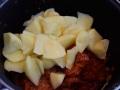 Patatas cortadas en cachelos