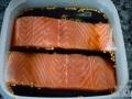 Macerar el salmón