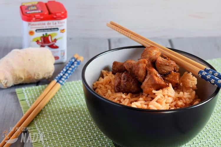 Cerdo marinado estilo oriental
