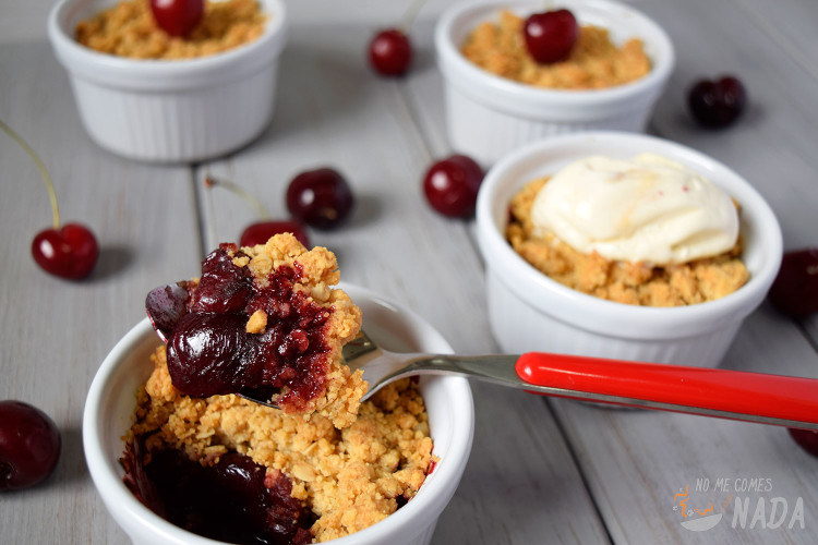 Crumble-de-cerezas