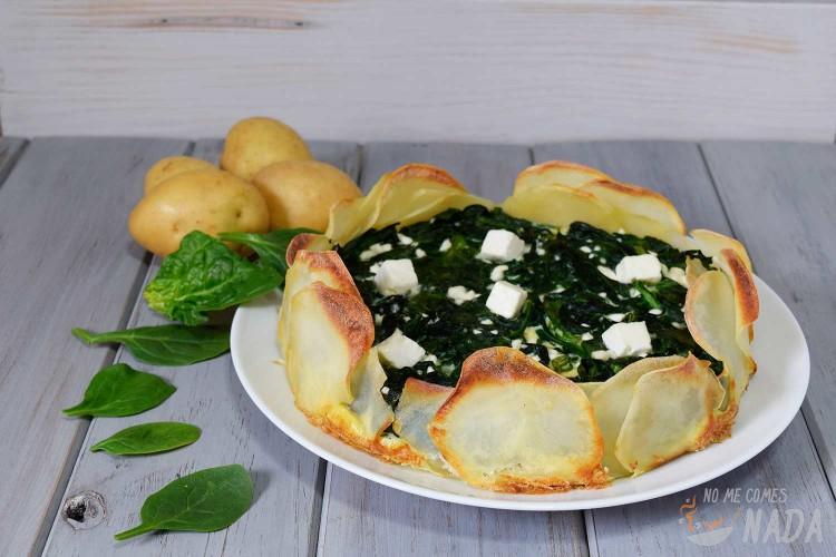 Tarta-de-espinacas-con-base-de-patatas