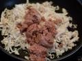 Mezclar pollo y paté
