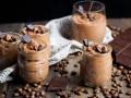 Mousse de café y chocolate