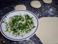 Relleno de queso y cilantro