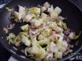 Añadir pera y nata