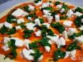 Preparar la pizza