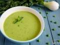 Sopa fría de guisantes y menta