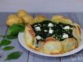 Tarta de espinacas con base de patatas
