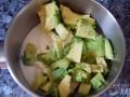 Triturar los ingredientes del relleno y calentar